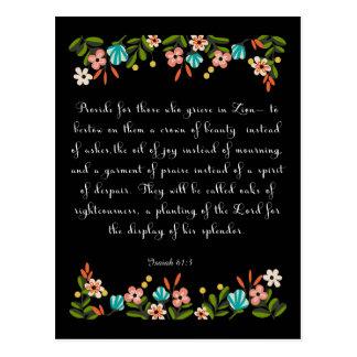 Coole christliche Kunst - Jesaja-61:3 Postkarte