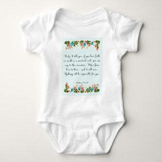 Coole christliche Kunst - Matthew-17:19 - 20 Baby Strampler