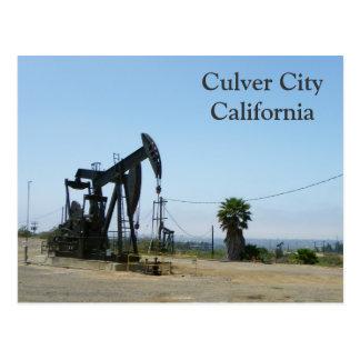 Coole Culver Stadt/Ölplattform-Postkarte! Postkarte
