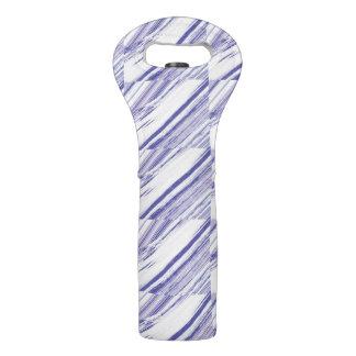 Coole diagonale weiße und lila Wein-Tasche Weintasche