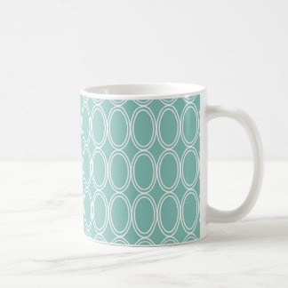 Coole doppelte blaue weiße ovale kaffeetasse