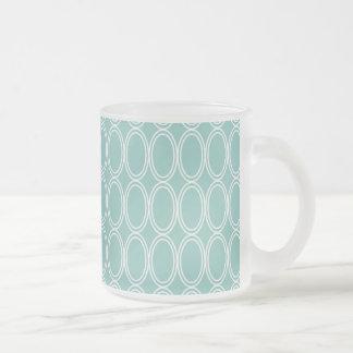 Coole doppelte blaue weiße ovale mattglastasse