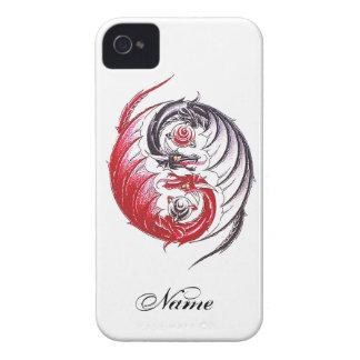Coole Drache Yin Yang Tätowierung iPhone 4 Hüllen