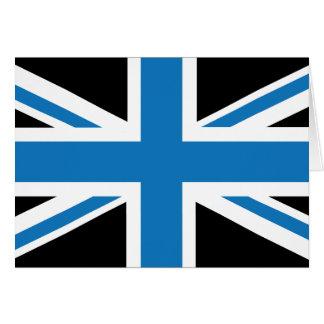 Coole dunkelblaue Flagge Gewerkschafts-Jack-Briten Karte