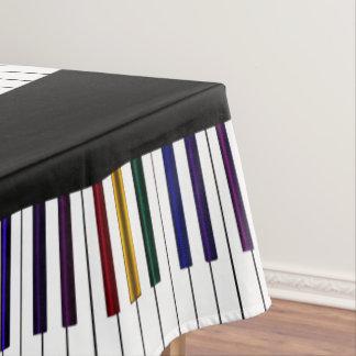 Coole dunkle psychedelische Klavier-Schlüssel Tischdecke