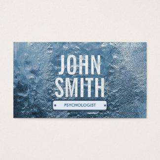 Coole Eiszeit-Psychologe-Geschäfts-Karte Visitenkarte