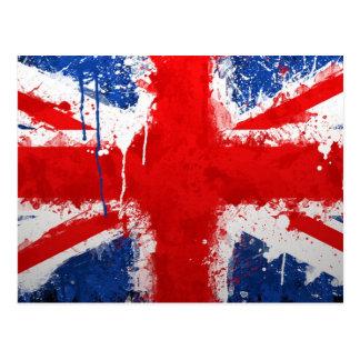 Coole England-Flagge Postkarte