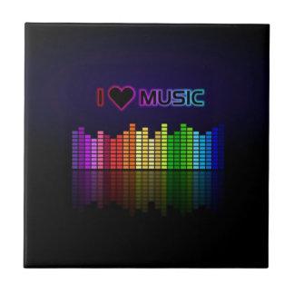 Coole fantastische trendy ich Liebe-Musik Fliesen