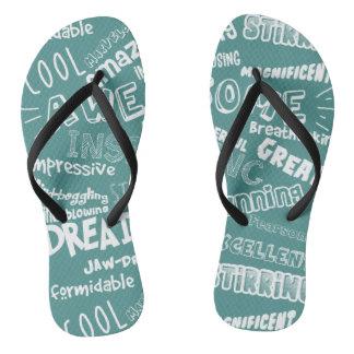 Coole fantastische Wörter Flip Flops