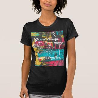 Coole Farbe große Sachen streicht des berühmten T-Shirt