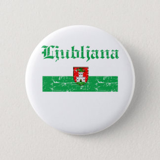 Coole Flaggenentwürfe Ljubljanas .city Runder Button 5,1 Cm