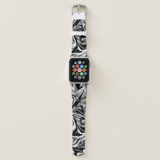 Coole flüssige Digital-Schwarzweiss-Kunst Apple Watch Armband