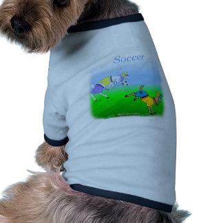 Coole Fußballgeschenke für Kinder Hund T Shirt