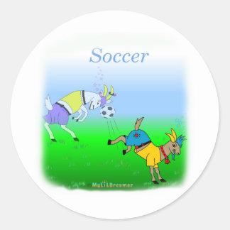 Coole Fußballgeschenke für Kinder Runder Aufkleber