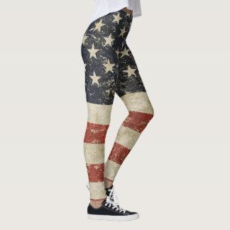 Coole Gamaschen mit Vintager Flagge von USA Leggings
