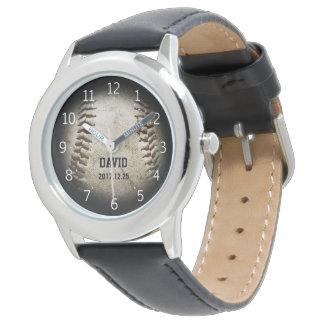 Coole Geschenke des Baseball-Ball-| Uhr