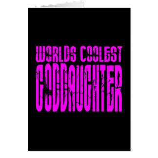 Coole Geschenke: Rosa Weltcoolste Patenttochter Karte