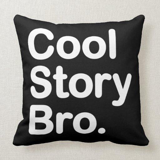 coole geschichte bro amerikaner mojo kissen zazzle. Black Bedroom Furniture Sets. Home Design Ideas