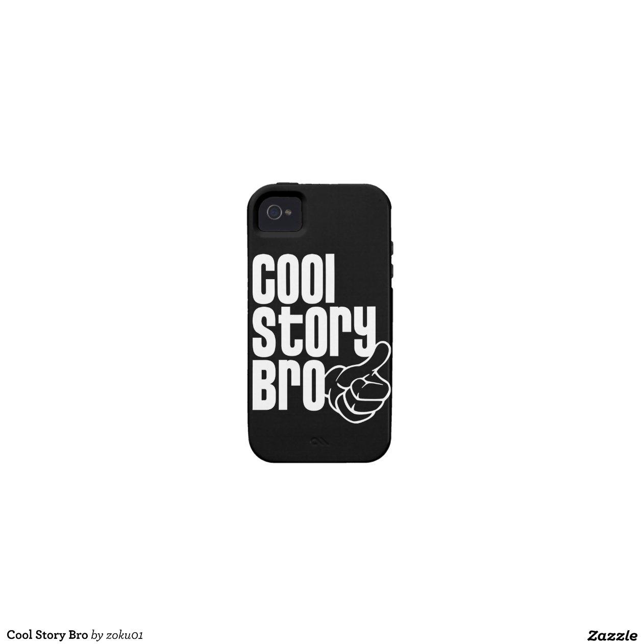coole geschichte bro iphone 4 4s case zazzle. Black Bedroom Furniture Sets. Home Design Ideas