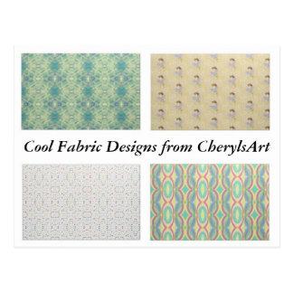 Coole Gewebe-Entwürfe von CherylsArt Postkarten