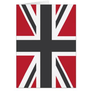 Coole graue rote Flagge Gewerkschafts-Jack-Briten Karte
