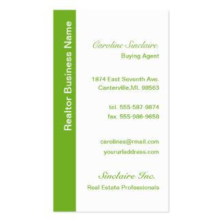Coole grüne Realtor-Geschäfts-Karten Visitenkarten Vorlagen