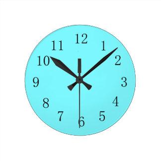 Coole helle elektrische blaue Farbküchen-Wand-Uhr Runde Wanduhr