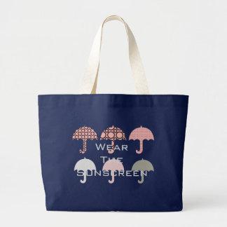 Coole helle Regenschirm-KinderTasche Jumbo Stoffbeutel