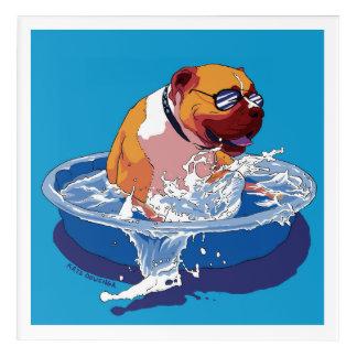 Coole Hundetage des Sommers Acryldruck