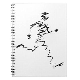 Coole Illustration des Läufers Notizblock