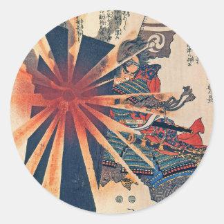 Coole japanische Kunst der Runder Aufkleber