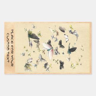Coole japanische Vintage ukiyo-e Rechteckiger Aufkleber