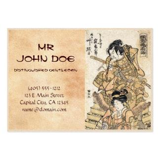 Coole japanische Vintage ukiyo-e samuraj Visitenkarte