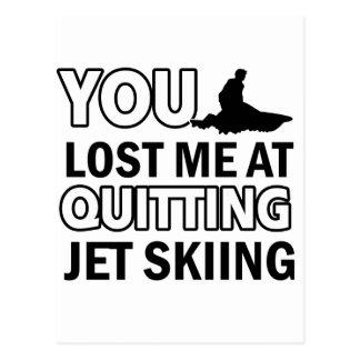 Coole Jet-Skifahrenentwürfe Postkarte