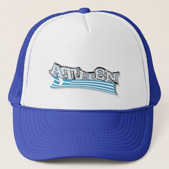Coole Kappe Athen in Blau-Weiß