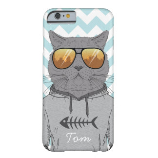 coole Katze der Hipsterkatze in der Barely There iPhone 6 Hülle