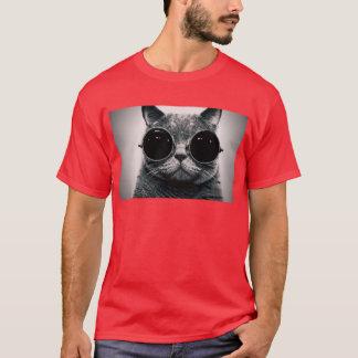 coole Katze steampunk Gläser T-Shirt