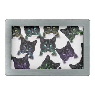 Coole Katzen Rechteckige Gürtelschnalle