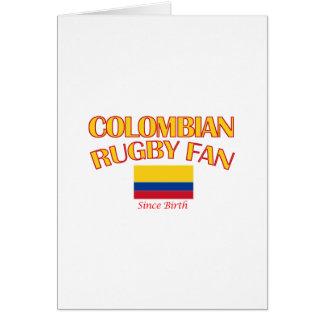 coole kolumbianische Rugbyfan ENTWÜRFE Karte
