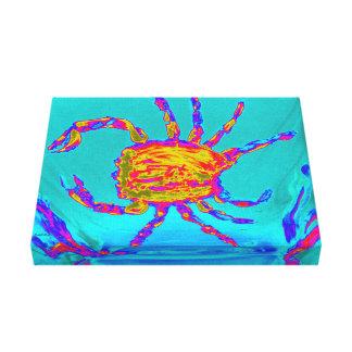 Coole Krabben-Undersea Kunst Leinwanddruck