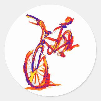 Coole künstlerische bunte Fahrrad-Entwürfe Runder Aufkleber