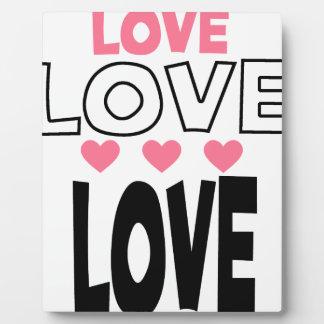 coole Liebeentwürfe Fotoplatte