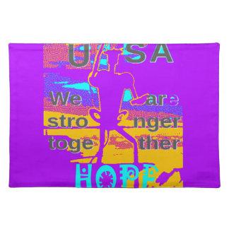 Coole lila Hoffnung USA Hillary sind wir stärkeres Tischset
