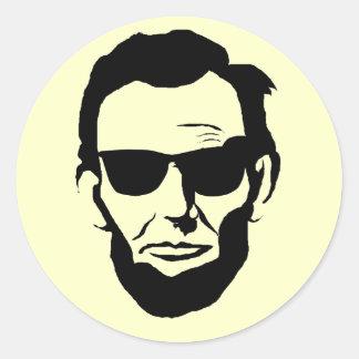Coole Lincoln-Aufkleber Runder Aufkleber