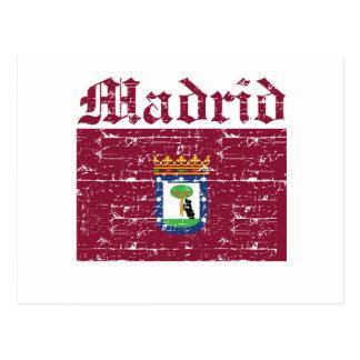 Coole Madrid-Stadtflaggenentwürfe Postkarte