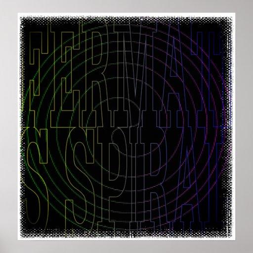 Coole Mathe Geek Text-Kunst: Fermats Spirale Posterdruck