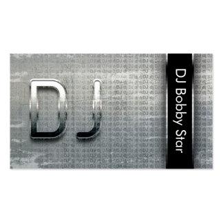Coole metallische Geschäftskarte DJ Visitenkarten Vorlagen
