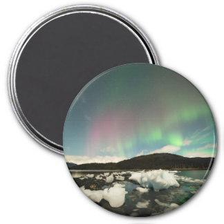 Coole Mischungs-Aurora Runder Magnet 7,6 Cm