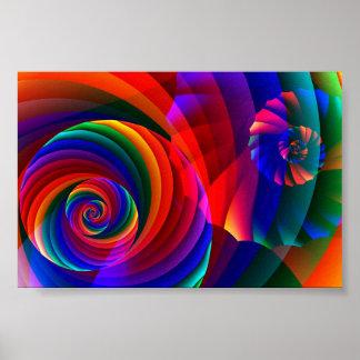 Coole moderne abstrakte Fraktal-Kunst der Farbe7 Poster