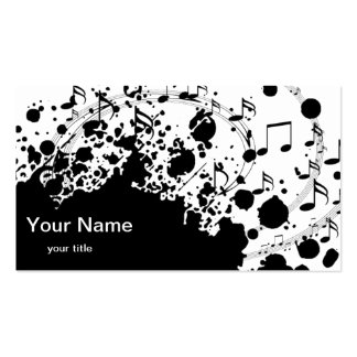 coole moderne Schwarzweiss-Musik Visitenkarten